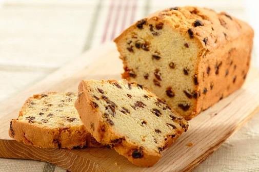 βιολογικό ψωμί με σταφίδες και ζάχαρη καρύδας